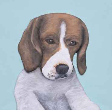 'Billy' 3D acrylic painting by artist Purple Faye